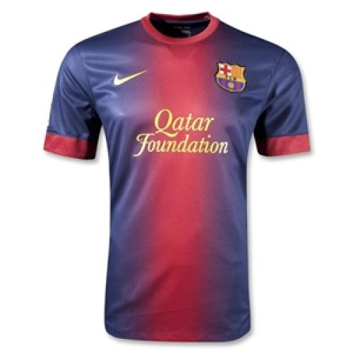 Barcelona UEFA Home jersey t-shirt with shorts kid youth for age 10-12