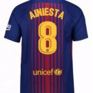Barcelona #8 Iniesta Home jersey w shorts kid youth for age 10-12