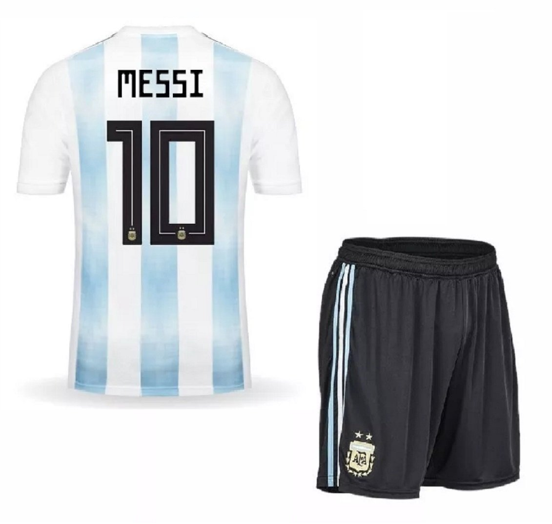 1b4a428d252 Argentina World Cup  10 Messi Home jersey w shorts kid youth for age 8-10