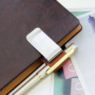 Leather Pen Loop & Metal Clip for Traveler's Journals Diary Notebooks pack of 2