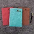 A5 Nubuck Leather Bound Thick Lined Notebook Blank Business Journal 360 Page 1PC