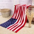 """American Flag Beach Towels Soft Cotton Absorbency Swimming Pool Towels 55""""X30"""""""