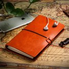 Refillable Writing Journal Brown Faux Leather Lined/Blank Diary Sketch book