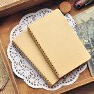 "Kraft Cover Notebook Bulk Sprial Memo Pad 3.4""x 5.8"" Pocket Sketchbook 200 pages"