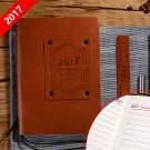 2017 Vintage Brown Leather Journal Calendar Book Monthly Daily Writting Diary