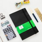 Classic Black PU Leather Bullet Journal Blank Diary Book Elastic Band Notebook