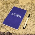 """Thick Blue Classic HardCover Writing Notebook - Blank Pages 5""""X7.5""""- BIG IDEAS"""