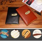 A5 PU Leather Journal with Password Lock Bookbound Ruled Diary Book 1 Piece