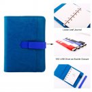 A6 Leather Bound Journal Organizer with 16GB USB Drive Business Gift Ideas