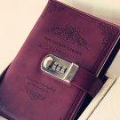 """Password Locking Leather Journal - """"The Secret Garden"""" Vintage Book Kid's Gift"""