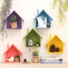 House Like Wooden Wall Shelf, Decorative Idea of Hanging Planter Storage Box,1pc