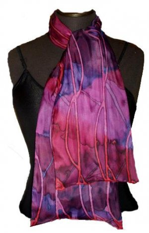 Rose Line Silk Neckerchief