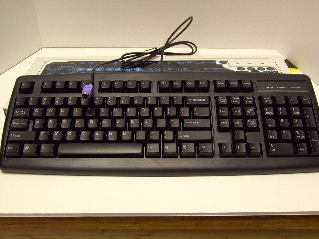 AOpen 107key PS2 Black - [KB-858B]