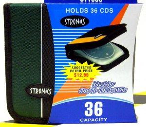 36 CD/DVD Holder with Zipper [Green]