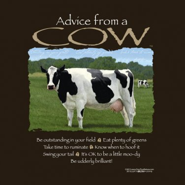 Advice From a Cow T-shirt Unisex S-M-L-XL-2XL New with Tags Farm Dairy Beef Fun
