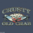 Crusty Old Crab T shirt Unisex S-M-L-XL-2XL New with Tags Fun Seafood Beach Fish
