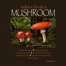 Advice Mushroom T-shirt Unisex Various NWT Short Sleeve Cotton Brown Gildan