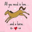 Adult T Shirt Ladies Horse Short Sleeve Cotton Graphic Tee Pink Gildan Various