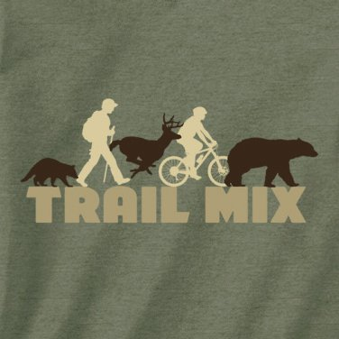 Hiking T-shirt Trail Mix Outdoors Nature Unisex S-M-L-XL-2XL New with Tags Cycle