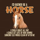 Horse Equestrian Screenprint UnisexT shirt  S-M-L-XL-2XL New with Tags Fun Brown