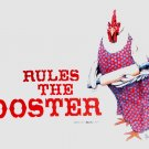 Hen Rules Rooster Farm Humor NEW T shirt Earth Sun Moon M Unisex Fun NWT Chicken