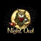 Night Owl T-shirt Unisex S-M-L-XL-2XL New with Tags Humor Insomniac Wise Fun