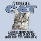Cat Lover T-shirt Cotton Blue NWT Animal Pet S-M-L-XL-2XL Screen Print Front
