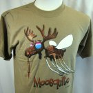 Camping T shirt Mosquito Moosquito Earth Sun Moon Large Nature Humor Summer NWT