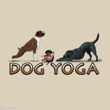 Dog Yoga T shirt Unisex S M L XL XXL NWT NEW Novelty Exercise Earth Sun Moon