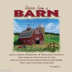 Advice  Barn T-shirt Country Farm Gildan Small Cotton NWT Short Sleeve Cotton