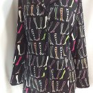 Boots Blazer Black Anne Carson Petite Ladies Womens Jacket Colorful  8P Lined