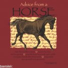 Advice Horse Tshirt Unisex Various NWT Equestrian Short Sleeve Gildan Cotton Red