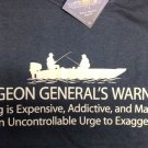 Fishing Humor T shirt Earth Sun Moon Unisex Fisherman Fun NWT Surgeon General