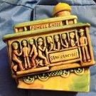 San Francisco POWELL & MASON Ceramic 504 Trolley Decanter POWELL & HYDE Vintage