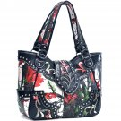 Realtree® Embroidered Detailing Rhinestone Studded Tote Bag
