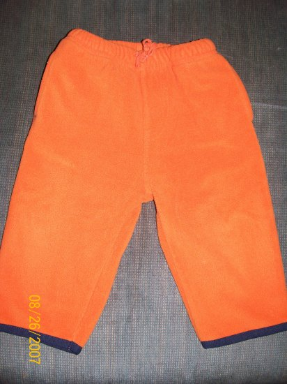 Old Navy Orange Fleece Pants Size 6-12 Months