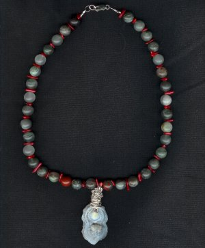 Chalcedony Conch and African Bloodstone ***ON SALE***