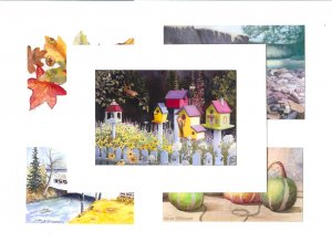 Handcrafted Gicle'e Cards, Assorted