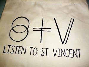 St Vincent / Annie Clark Tote Bag / Purse Carrier Indie Punk Rock T-shirt Vinyl