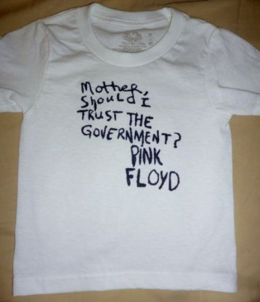 "NEW Pink Floyd ""Mother/ Government"" Toddler T-shirt Infant Child 2T 3T 4T Kids"