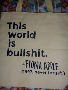Fiona Apple Tote Bag / Mtv 90's / Retro Purse T-shirt Eco Vinyl NEW
