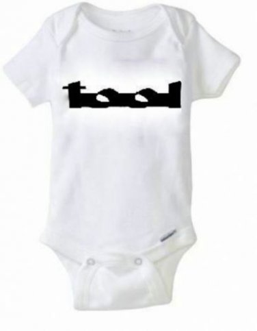 TOOL Band Baby Onesie / Snapsuit Music 90's Maynard James Keenan T-shirt 0-24