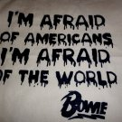 "David Bowie "" I'm Afraid of Americans"" Tote Bag / 90's 80's Hipster Tshirt Vinyl"