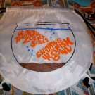 Pink Floyd Backpack Drawstring Bookbag Sack 60's Vinyl Concert Fish T-shirt NEW
