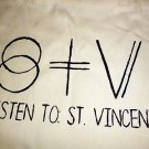 St Vincent Tote Bag / Indie Punk Rock Purse T-shirt Vinyl Annie Clark Music Cds