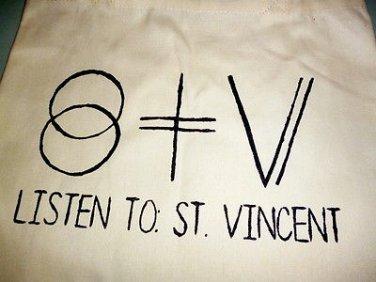 St Vincent Tote Bag / Indie Punk Rock Purse T-shirt Vinyl Annie Clark Music Cds