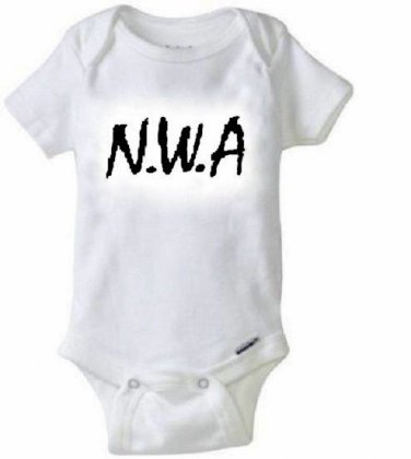 N.W.A Baby Onesie / Hip Hop Rap Ice Cube LA Cali Newborn 0,3,6,9,12,18,24 Months