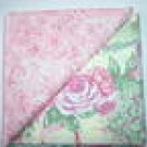 Pink Print n' Cabbage Rose - Two FAT Quarters (2721)