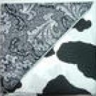 Black Swirls n' Cow Print - Two FAT Quarters (2724)
