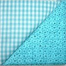Turqoise Gingham n' Print - Two FAT Quarters (2729)